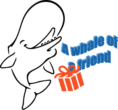 logo a whale of a friend